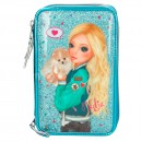 Estuche triple TopModel FRIENDS Turquesa