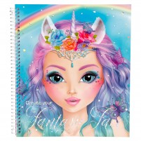 Cuaderno para colorear Create Your Fantasy Face