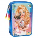 Estuche triple TopModel FRIENDS Azul