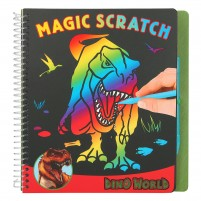 Cuaderno Magic-Scratch Dino World