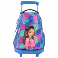 Mochila Trolley TROPICAL Azul.