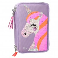 Estuche triple Ylvi and de Minimoomis Unicornio