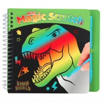 Mini cuaderno Magic-Scratch Dino World