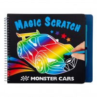 Cuaderno Magic-Scratch Monster Cars