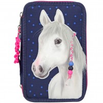 Estuche triple Miss Melody azul