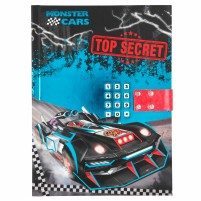 Diario con código secreto Monster Cars