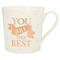 Taza YOU ARE THE BEST en dorado
