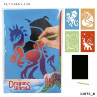 Dino World Tarjetas Magic Scratch DRAGON