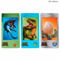 Dino World Minilibro de colorear con forma de móvil