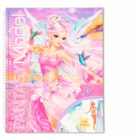 Crea tu libro para colorear Fantasy Model Fairy