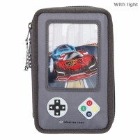 Monster Cars estuche triple LED Gamer